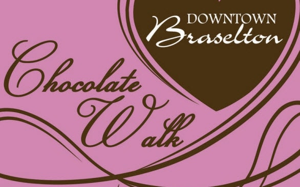 Downtown Braselton Chocolate Walk in February