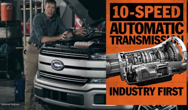 2018 Ford F-150 10-speed automatic transmission