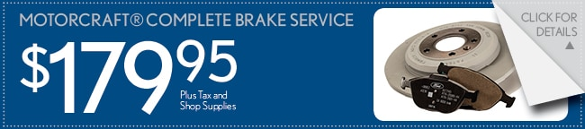 Motorcraft Brake Service Coupon, Buford