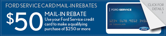 Ford Service Card Coupon, Buford