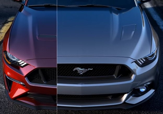 2018 Ford Mustang before and after