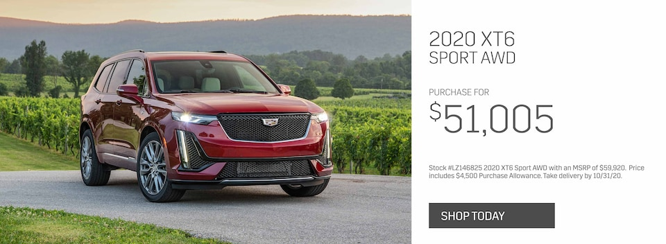 New 2020 Cadillac XT6 Sport