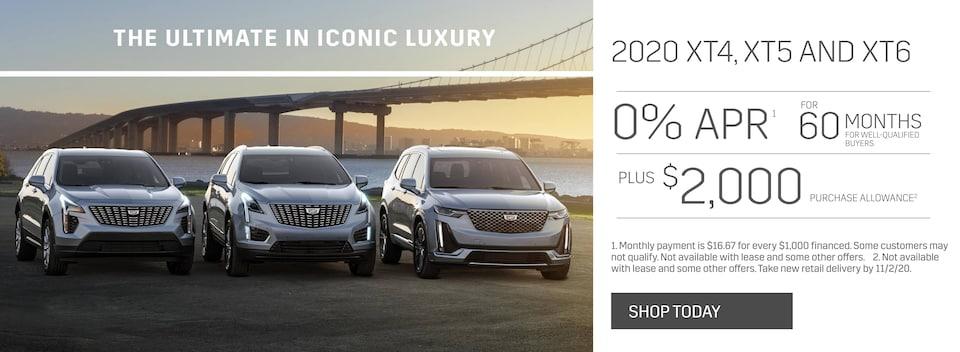 New 2020 Cadillac XT4, XT5 and XT6