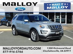 Certified Pre-owned 2017 Ford Explorer Limited SUV 1FM5K7F85HGE33298 for Sale in Charlottesville, VA