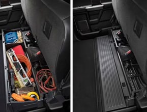 REAR SEAT STORAGE AND FLAT LOAD FLOOR
