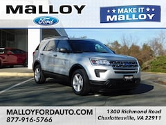 New 2019 Ford Explorer Base SUV 1FM5K8B82KGA49904 for sale at your Charlottesville VA used Ford authority