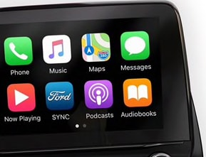 SYNC 3 with Apple CarPlay<sup style=