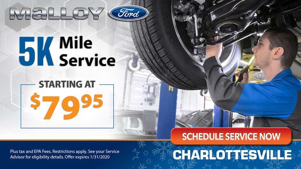 Malloy CV - 5k Mile Service