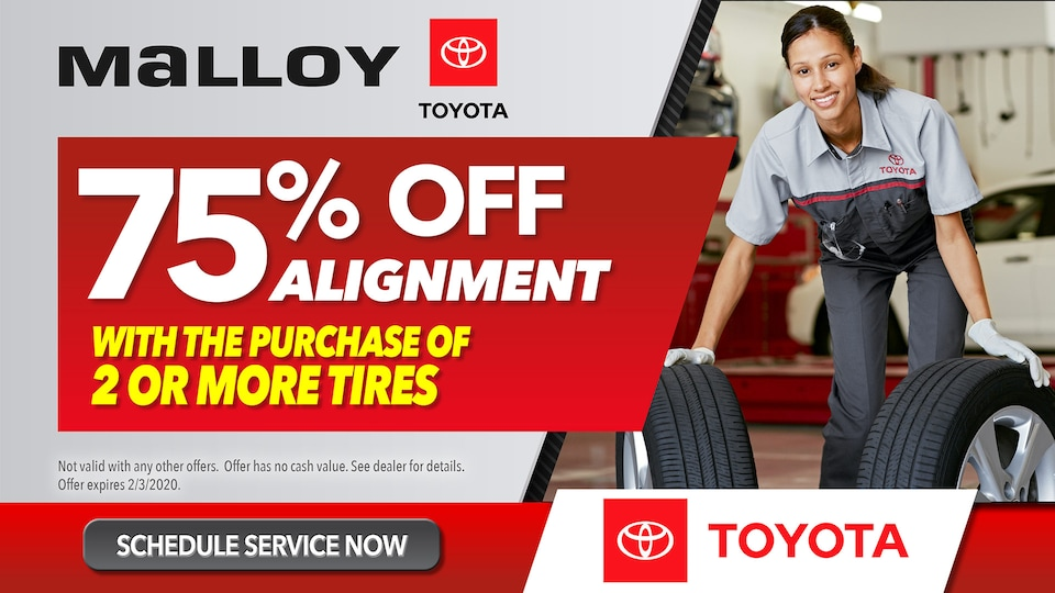 Malloy Toyota Alignment Special