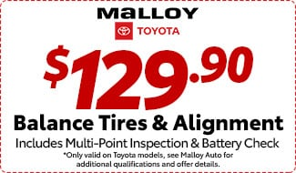 Balance Tires and Alignment $129.90
