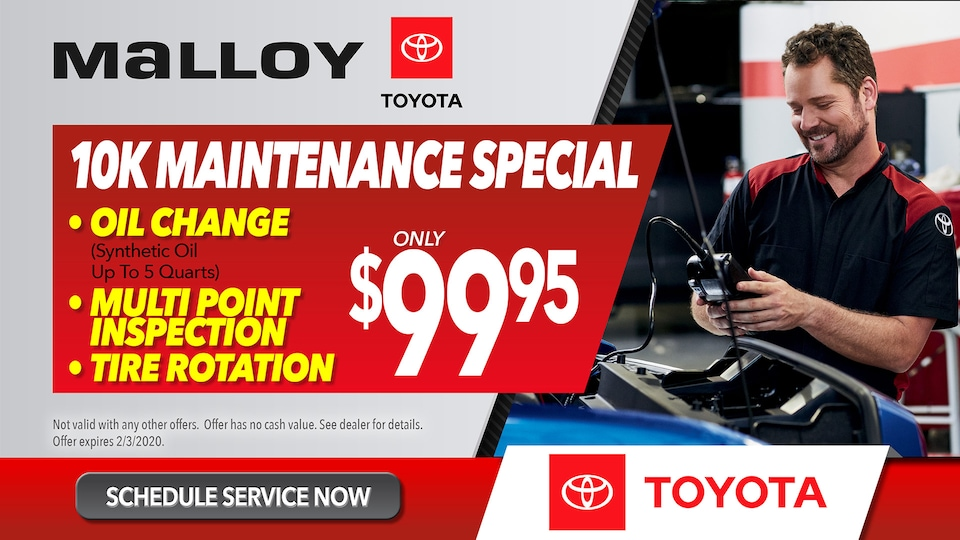 Malloy Toyota Maintenance Special