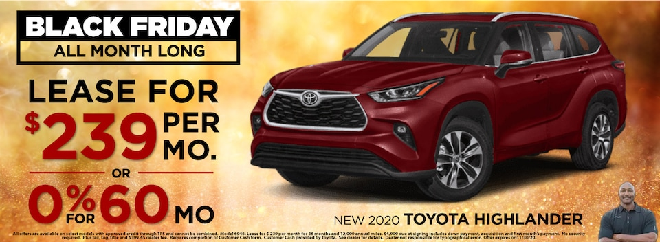 Lease $239 Per month or 0% for 60 months on select 2020 models