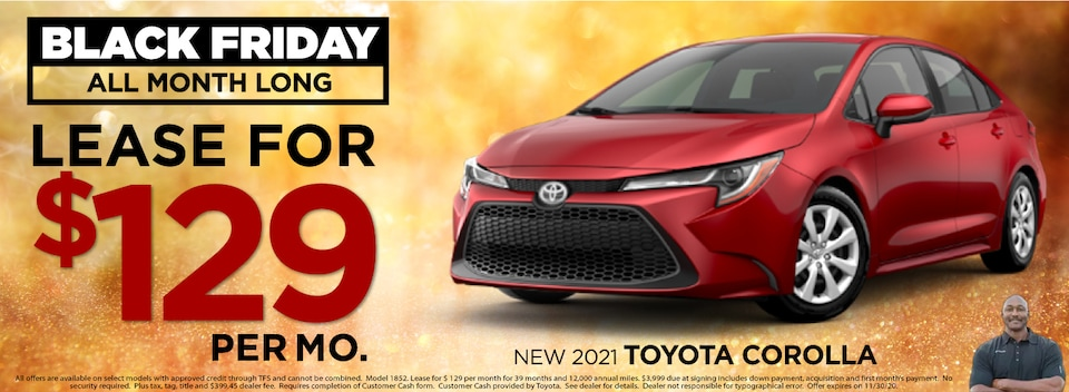Corolla Lease $129 Per month New 2021 Models