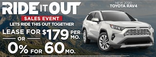 RAV 4 Lease $179 Per month or 0% for 60 months