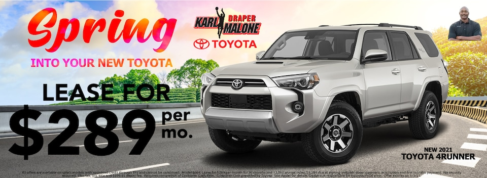 4Runner  Lease $289 Per month New 2021 Models