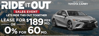 Camry  Lease $189 Per month or 0% for 60 months