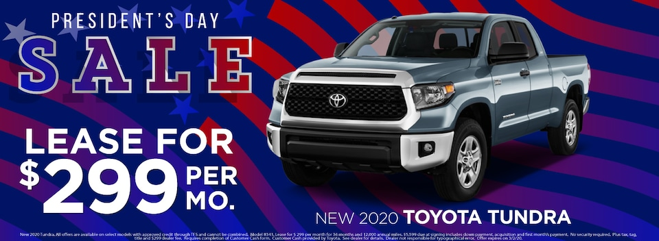 Tundra Lease $299 Per month