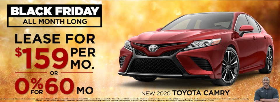 Lease $159 Per month or 0% for 60 Months* on select 2020 models