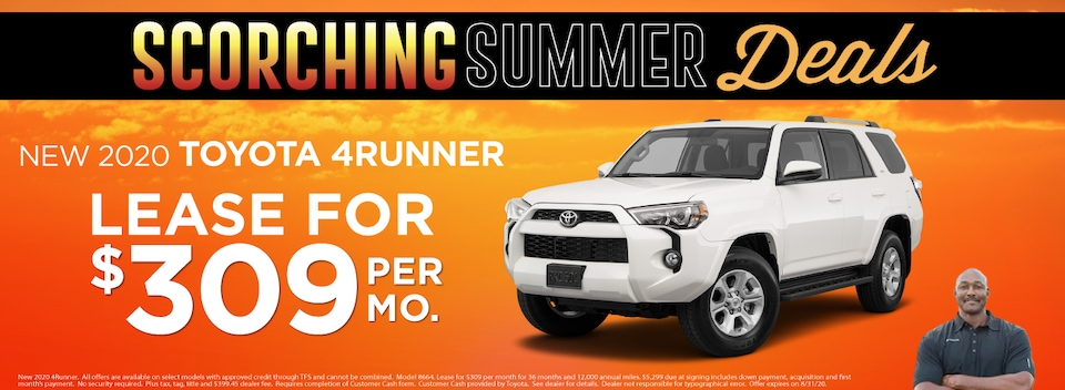 4Runner  Lease $309 Per month