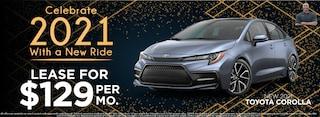 Corolla Lease $129 Per month New 2021 Models
