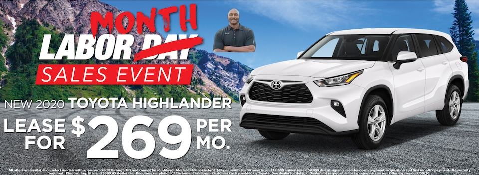 Highlander Lease $269 Per month