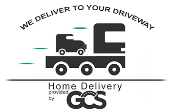 We deliver to your driveway - home delivery provided by GCS