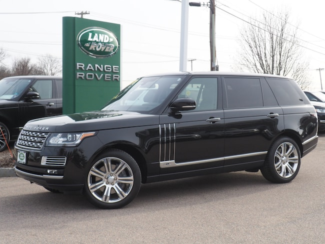 Certified Used 2015 Land Rover Range Rover 5.0L V8 Supercharged Autobiography Black SUV For Sale Near Boston Massachusetts