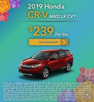 New 2019 Honda CR-V 4/11/2019