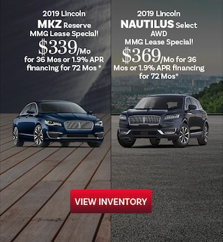 2019 Lincoln MKZ and Nautilus 10/16/2019