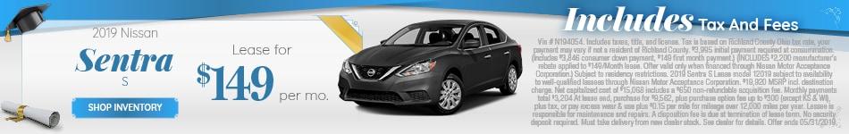 New 2019 Nissan Sentra 5/7/2019