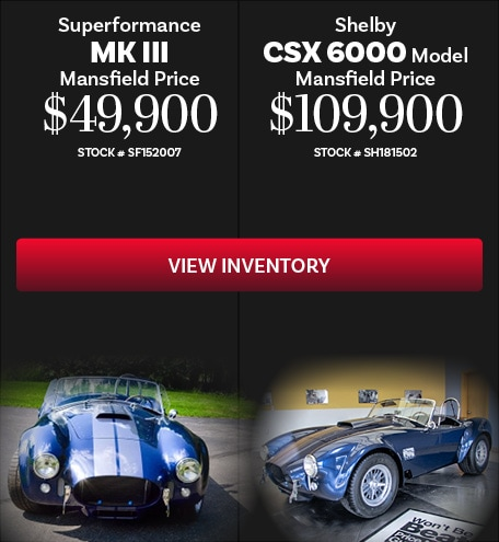 Superformance MK III and Shelby CSX 6000 10/16/2019