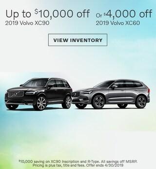 New 2019 Volvo XC60 and XC90 4/10/2019