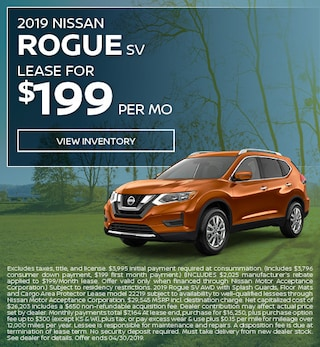 New 2019 Rogue SV 4/10/2019