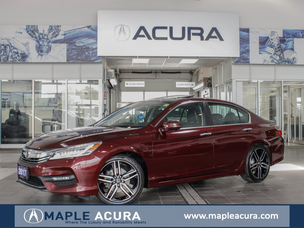 2017 Honda Accord Touring, Navigation, Leather, One owner. Sedan