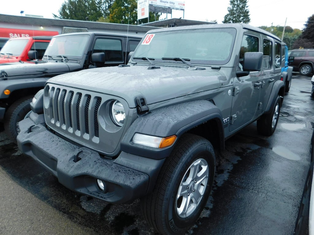Featured Used 2018 Jeep Wrangler Unlimited Sport 4x4 SUV for Sale in Hornell NY