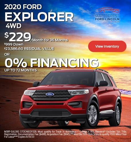 August 2020 FORD EXPLORER 4WD