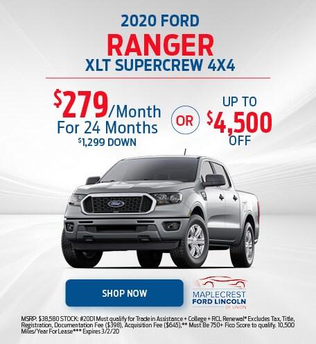 2020 Ford Ranger XLT Supercrew 4x4