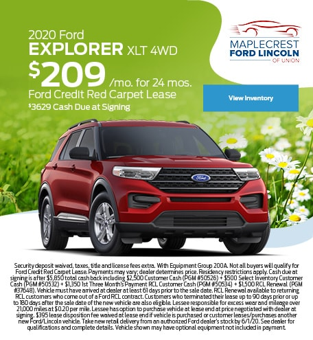 May 2020 Ford Explorer