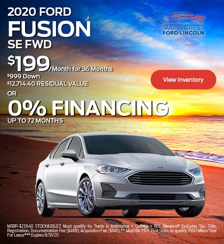 August 2020 FORD FUSION SE FWD