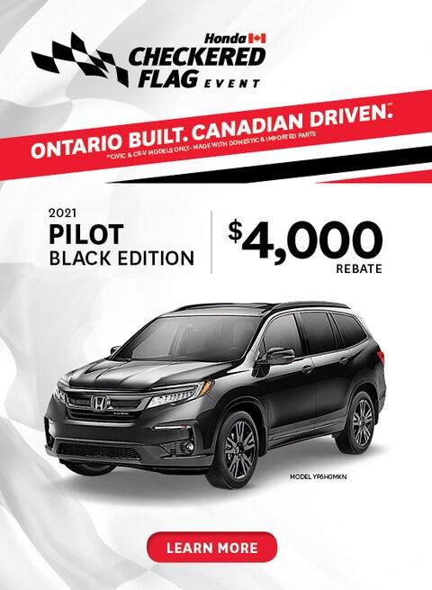 April 2021 Honda Pilot Black Edition