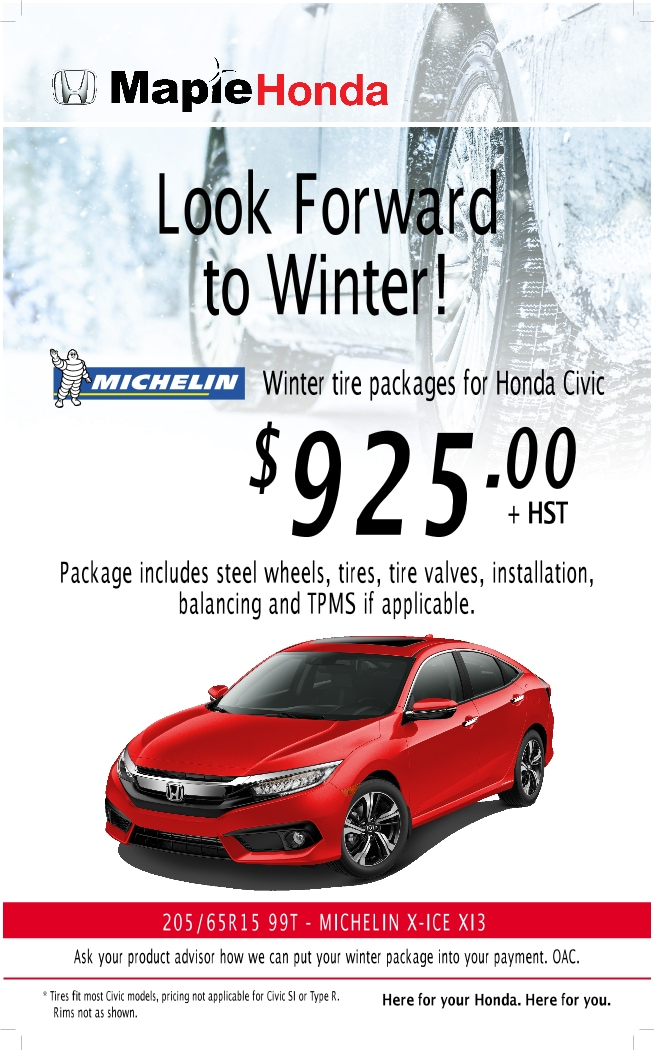 Winter Tire Packages | Maple Honda