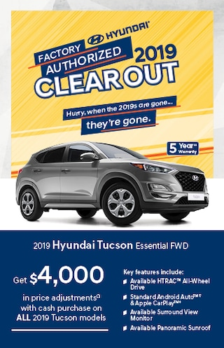 Factory Authorized 2019 Clearout on Tucson!