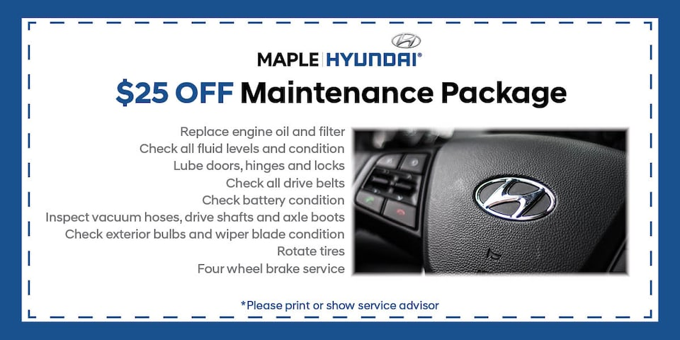 $25.00 off Maintenance Package