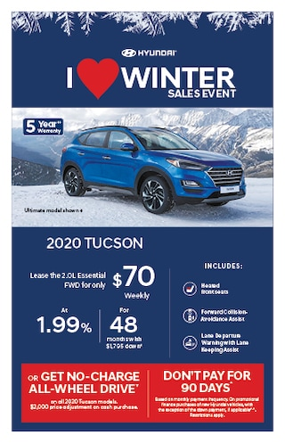 I Love Winter Event 2020 Hyundai Tucson