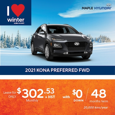 2021 KONA Preferred Lease Promotion