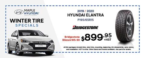 2019/2020 Hyundai Elantra Bridgestone