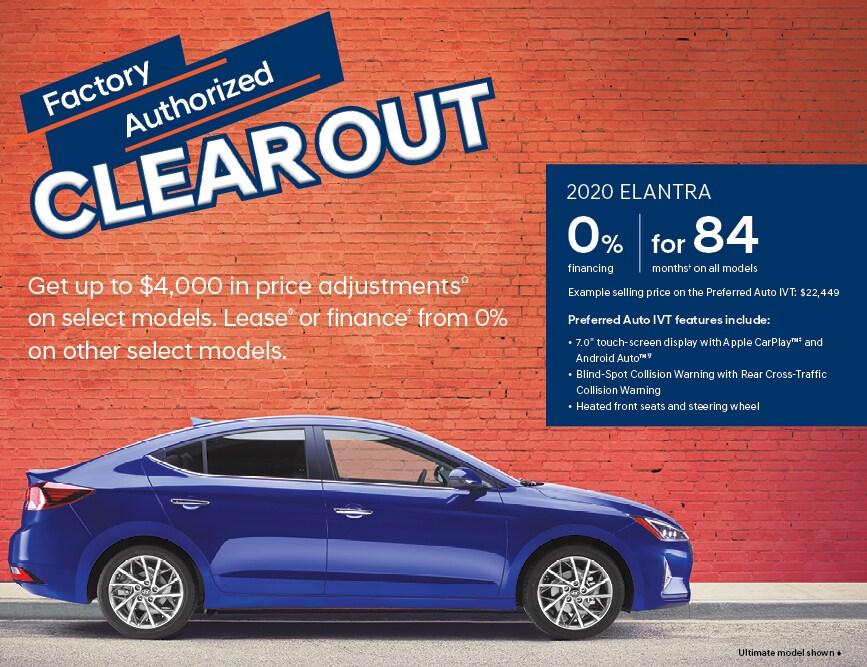 Hyundai Elantra 0% Financing for 84 Months