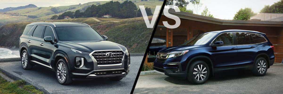 Comparison 2020 Honda Pilot VS 2020 Hyundai Palisade - Maple Hyundai