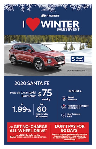 I Love Winter Event 2020 Hyundai Santa Fe