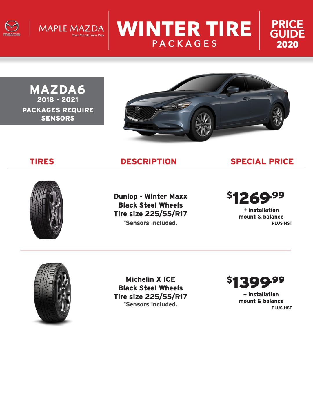 Winter Tire Packages in Maple, Ontario - MAZDA6